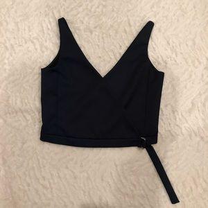 Zara Navy Crop Top